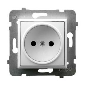 Gniazdo pojedyncze podtynkowe białe GP-1U/m/00 ARIA OSPEL