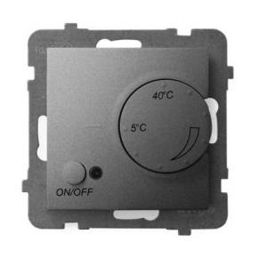Regulator temperatury z czujnikiem podpodłogowym szary mat RTP-1U/m/70 ARIA OSPEL
