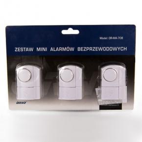 Zestaw 3 mini alarmów bezprzewodowych OR-MA-708 ORNO