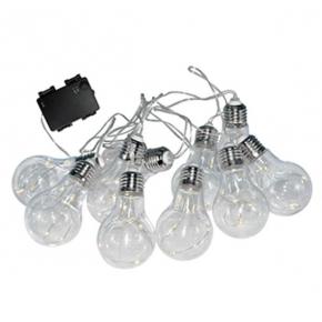 Lampy-ogrodowe-wiszace - dekoracyjna girlanda ogrodowa na baterie 3xaa 2,1 3500k ip44 smolder polux