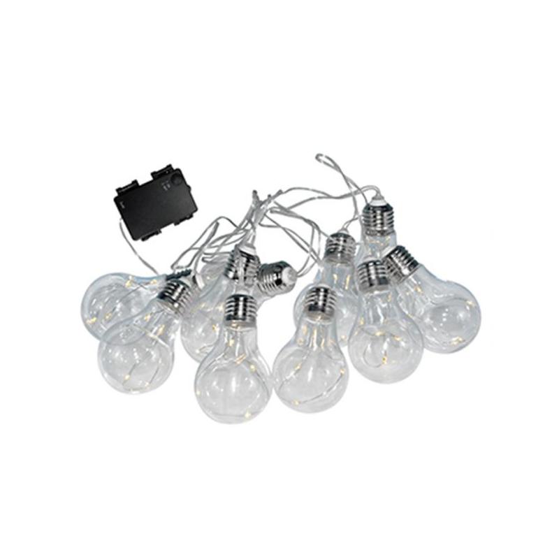 Lampy-ogrodowe-wiszace - dekoracyjna girlanda ogrodowa na baterie 3xaa 2,1 3500k ip44 smolder polux firmy POLUX