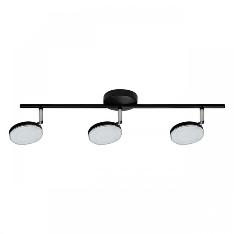Lampy-sufitowe - oprawa scienno-sufitowa led czarna capri 10223c 3*5w polux firmy POLUX