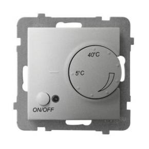 Regulator temperatury z czujnikiem podpodłogowym srebrny RTP-1U/m/18 ARIA OSPEL