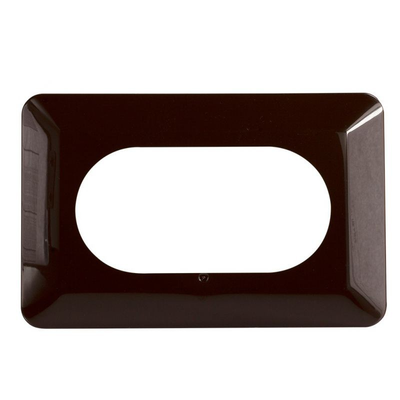 Oslony-sciany - osłona ściany brązowa podwójna pod kontakty i włączniki osx-220 zamel firmy ZAMEL