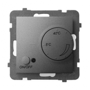 Regulator temperatury z czujnikiem napowietrznym szary mat RTP-1UN/m/70 ARIA OSPEL