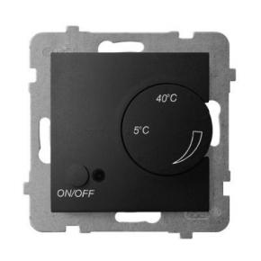 Regulator temperatury z czujnikiem napowietrznym czarny metalik RTP-1UN/m/33 ARIA OSPEL