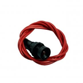 Lampki-kontrolne - lampka kontrolna czerwona klp- 5 /r 230v simet