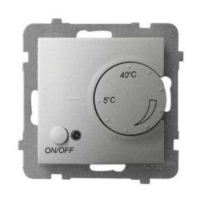 Regulator temperatury z czujnikiem napowietrznym srebrny RTP-1UN/m/18 ARIA OSPEL