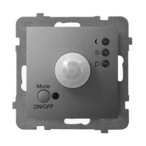 Elektroniczny czujnik ruchu szary mat ŁP-16U/m/70 ARIA OSPEL