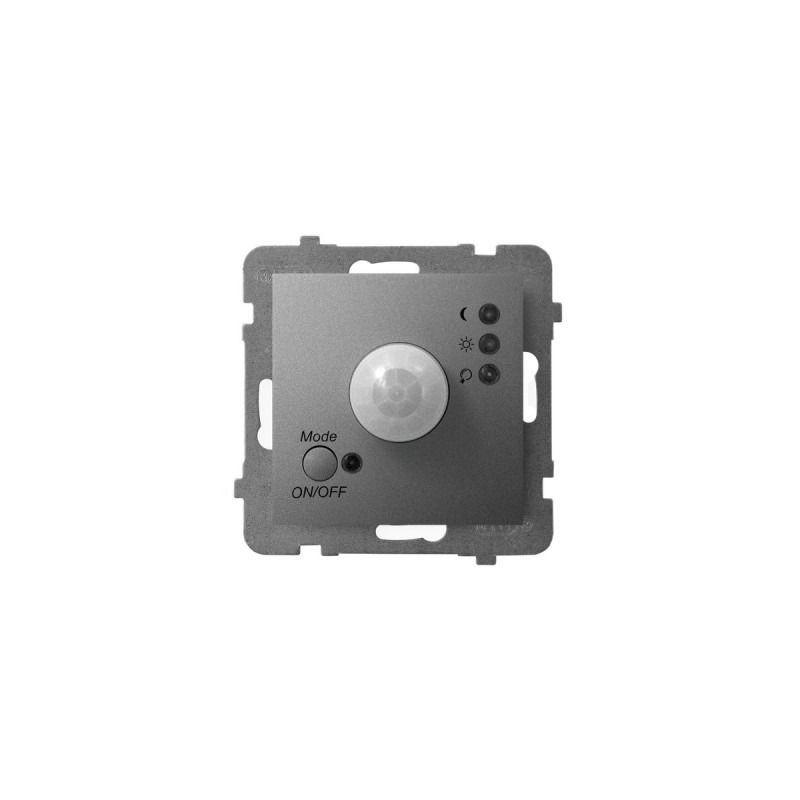 Elektroniczne-czujniki-ruchu - elektroniczny czujnik ruchu szary mat łp-16u/m/70 aria ospel firmy OSPEL