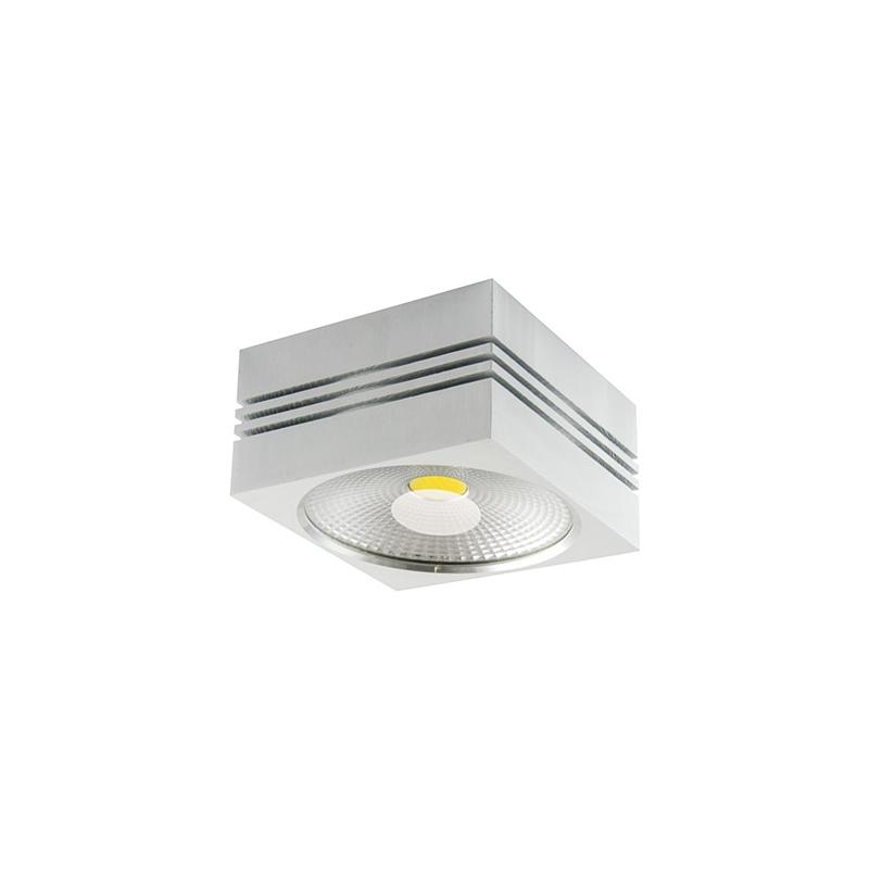Oswietlenie-sufitowe - oprawa sufitowa led kwadrat 7w 4000k gusti 03105 ideus firmy IDEUS