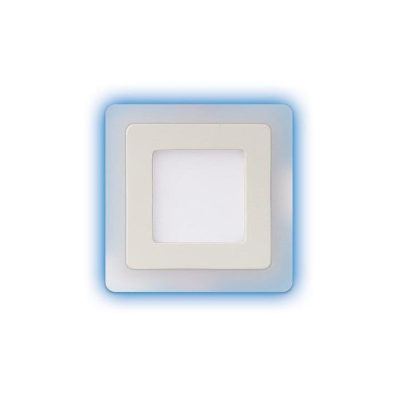 Plafony - oprawa sufitowa led z niebieskim podświetleniem 3w+3w alden led d 02901 ideus firmy IDEUS
