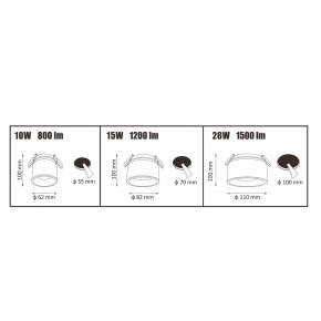 Oprawy-sufitowe - oczko przegubowe podtynkowe białe haron 10w 800lm polux